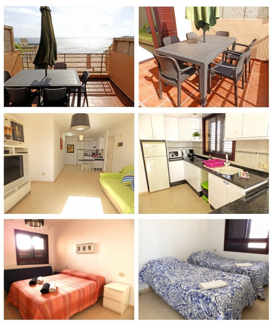 Holiday apartment with seaview in El Médano, Tenerife